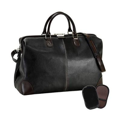 平野鞄 豊岡職人の技 国産 ボストンバッグ 2泊用 オールドレザー調のレトロな風合い がま口 ダレスボストン 46c
