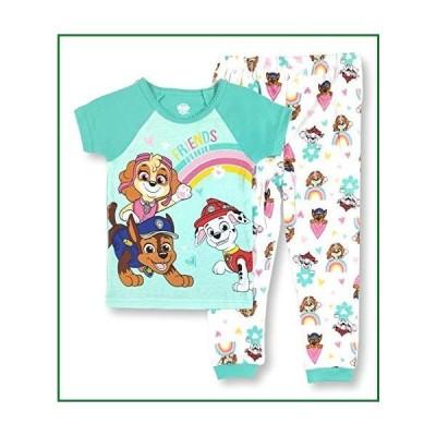 Paw Patrol Pajamas 2-Piece Friends Furever PJ Set for Toddler Girls (3T) Green