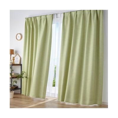 【送料無料!】無地調ストライプ柄ドビー織遮光・防炎カーテン ドレープカーテン(遮光あり・なし) Curtains, blackout curtains, thermal curtains, Drape(ニッセン、nissen)