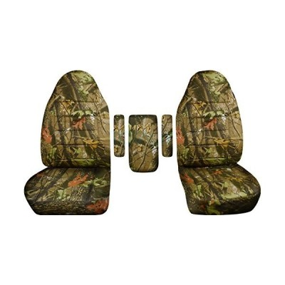 Totally Covers Compatible with 1999-2001 Ford F-150 F-250 F-350 Camo Truck Captains Chairs Seat Covers w 3 Armrest Covers (One per Seat + Ce