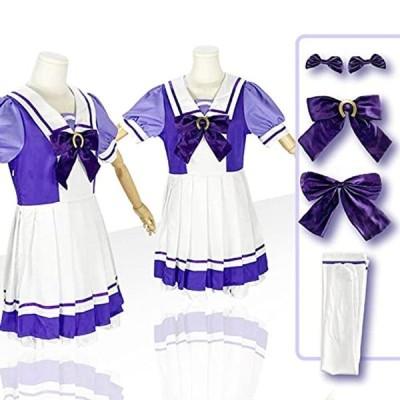 ANCL ウマ娘 コスプレ 衣装 トレセン プリティーダービー 誕生日 プレゼント 女性 祭り ハロウィン (M)