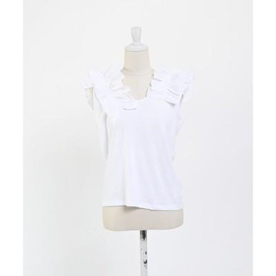 tシャツ Tシャツ 【cheap!!by vaNite】フリルタンク
