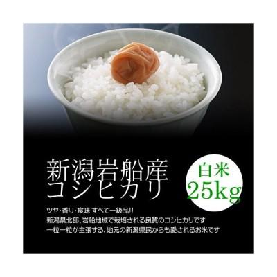 お土産岩船産コシヒカリ 白米(精米) 25kg(5kg×5袋)モチモチ食感が人気の新潟米