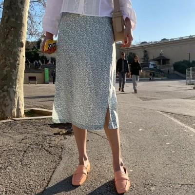 BANHARU レディース スカート Flower back skirt