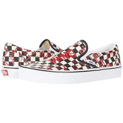 バンズ Classic Slip-On メンズ スニーカー 靴 シューズ (Vans Crew) Checkerboard/Red