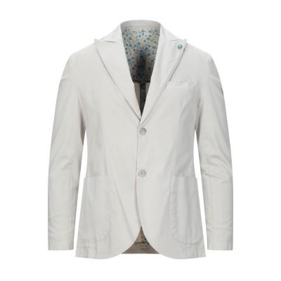 BARBATI テーラードジャケット ライトグレー 48 コットン 98% / ポリウレタン 2% テーラードジャケット