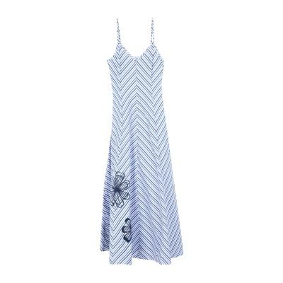 SFIZIO ロングワンピース&ドレス スカイブルー 42 コットン 100% ロングワンピース&ドレス