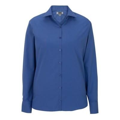 ユニセックス 衣類 トップス EDWARDS Women's' LIGHTWEIGHT LONG SLEEVE POPLIN BLOUSE--5273 ブラウス&シャツ