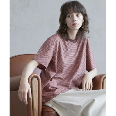 CLEAR IMPRESSION/クリアインプレッション 《musee》ボーダーTシャツ ピンク1 02