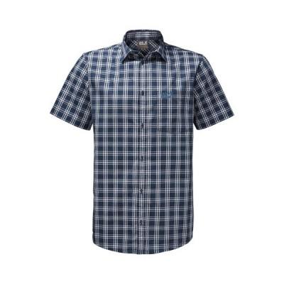 ジャックウルフスキン メンズ NB-XXLサイズ 半袖シャツ ホットスプリング シャツ 普段使用OK トレッキング 登山用品  登山 大きいサイズ 3L ビッグ