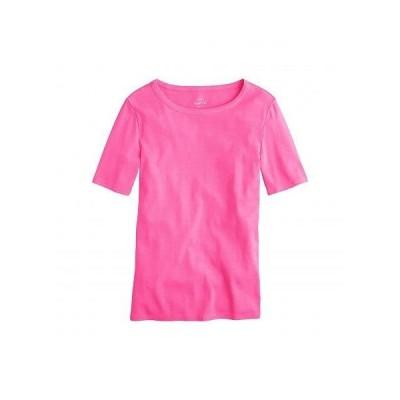 J.Crew レディース 女性用 ファッション Tシャツ Slim Perfect T-Shirt - Neon Flamingo