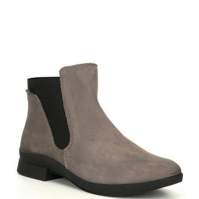メフィスト レディース ブーツ&レインブーツ シューズ Soria1 Nubuck Leather Block Heel Chelsea Boots Gray