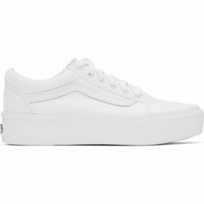 ヴァンズ Vans レディース スニーカー シューズ・靴 White Old Skool Platform Sneakers White