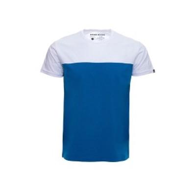 エックスレイ メンズ Tシャツ トップス Colorblock Crew Neck T-Shirt OCEAN BLUE/WHITE