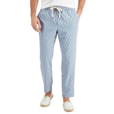 タッソエルバ カジュアルパンツ ボトムス メンズ Men's Medallion Print Drawstring Pants, Created for Macy's Grey Combo