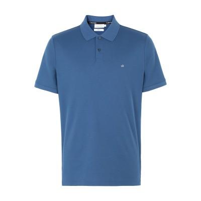 カルバン クライン CALVIN KLEIN ポロシャツ パステルブルー S コットン BCI 100% ポロシャツ