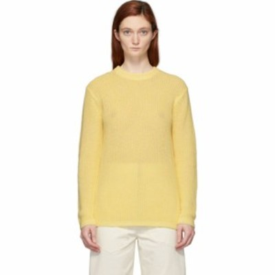 ティビ Tibi レディース ニット・セーター トップス yellow crispy cotton crewneck sweater Lemon