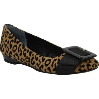 ジェイレニー J. Renee レディース スリッポン・フラット バレエシューズ シューズ・靴 Odalyz Ballet Flat Brown/Black Leopard Fabric