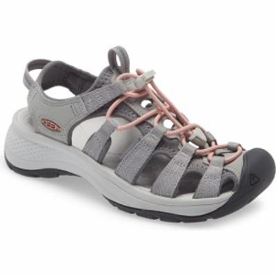 キーン KEEN レディース ウォーターシューズ シューズ・靴 Astoria West Water Friendly Sandal Grey/Coral