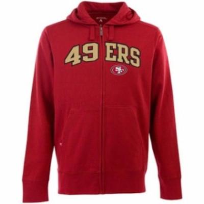 Antigua アンティグア スポーツ用品  Antigua San Francisco 49ers Signature Full Zip Hoodie - Scarlet