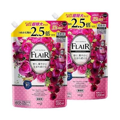 フレアフレグランスフローラル&スウィートの香り詰め替え大容量1200ml×2個