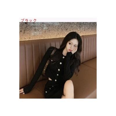 【送料無料】レトロ 韓国風 着やせ 何でも似合う ミニ丈 シングル列ボタン トップス | 364331_A63364-3586171