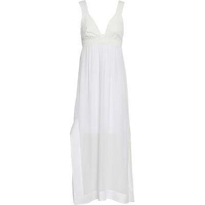ジェントリーポルトフィーノ GENTRYPORTOFINO ロングワンピース&ドレス ホワイト 40 レーヨン 92% / ポリエステル 8% ロン