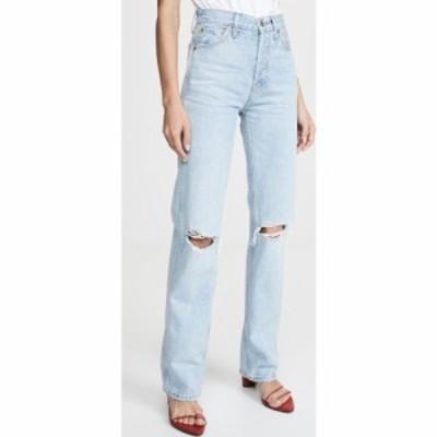 リダン RE/DONE レディース ジーンズ・デニム ボトムス・パンツ High Rise Loose Jeans Bleach Destroy