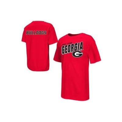 コロシアム アメリカ USA カレッジ 全米 リーグ NCAA Georgia Bullドッグs ユース レッド Sidekick Polyester Tシャツ