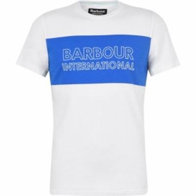 バブアー Barbour International メンズ Tシャツ ロゴTシャツ トップス Panel Logo Tee White WH