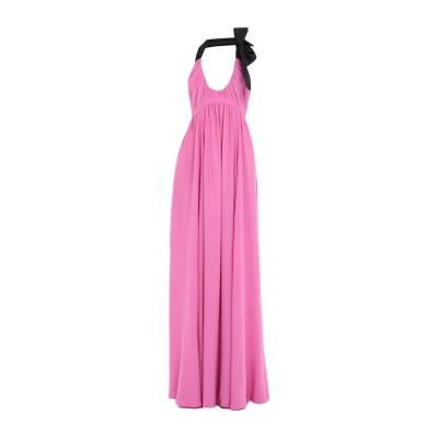 ヌメロ ヴェントゥーノ N°21 ロングワンピース&ドレス フューシャ 40 アセテート 69% / シルク 31% ロングワンピース&ドレス