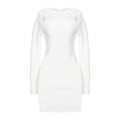 CASHMERE COMPANY ミニワンピース&ドレス ホワイト 42 ウール 50% / カシミヤ 30% / ナイロン 15% / ポリウレタ