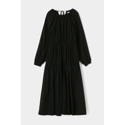 GATHER TIERED FLARE ドレス