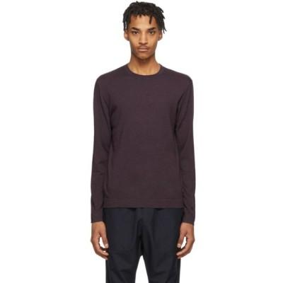 ジーゼニア Z Zegna メンズ ニット・セーター トップス Purple Knit Crewneck Sweater Purple