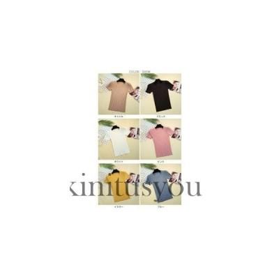 半袖Tシャツ 女性 スリムTシャツ KL 薄手 ニットTシャツ 半袖 カットソー ラウンドネック レディース トップス 丸襟 ストレッ
