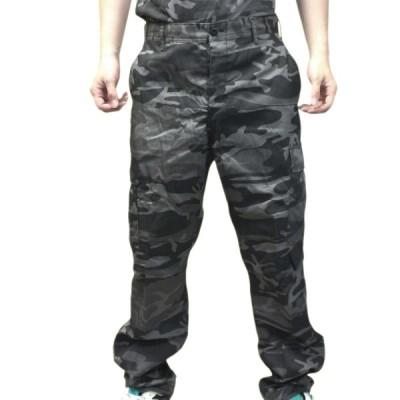 タクティカル迷彩BDUパンツ ブラックカモ柄 ロスコ ULTRA FORCE 米軍ファティーグ仕様ミリタリー