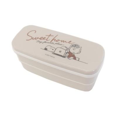 お弁当箱 はし付き 抗菌 2段ランチボックス SWEET HOME スヌーピー ピーナッツ カミオジャパン 300ml 300ml キャラクター