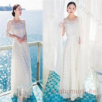 ドレス パーティードレス ウェディングドレス 結婚式 謝恩会 二次会ドレス 前撮り ストレッチあり お呼ばれドレス パーティードレス