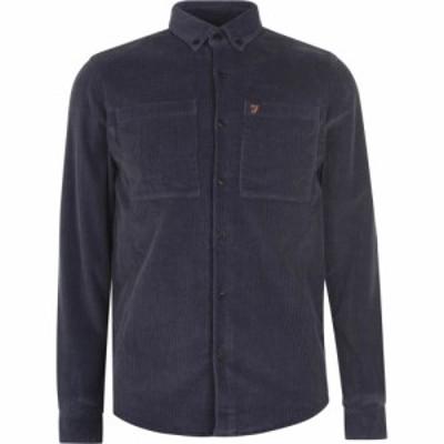 ファーラークラシック Farah Classic メンズ シャツ トップス Long Sleeve Cord Shirt Dark Grey