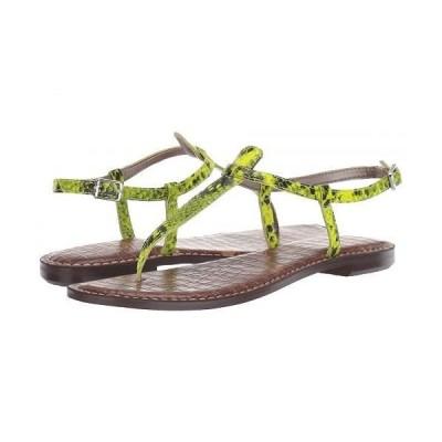 Sam Edelman サムエデルマン レディース 女性用 シューズ 靴 サンダル Gigi - Neon Yellow Snake Print Leather