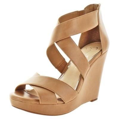 ハイヒール ジェシカシンプソン Jessica Simpson Jadyn Women's Strappy Wedge Sandals
