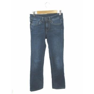 【中古】ペペジーンズ Pepe Jeans パンツ デニム ジーンズ ジップフライ 24×32 青 ブルー /TK9 レディース