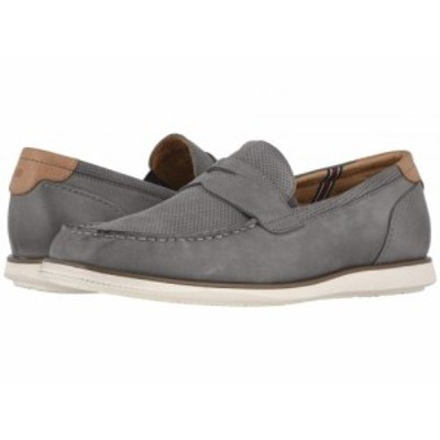 Florsheim フローシャイム メンズ 男性用 シューズ 靴 ローファー Atlantic Moc Toe Penny Loafer Gray Nubuck/White Sole【送料無料】