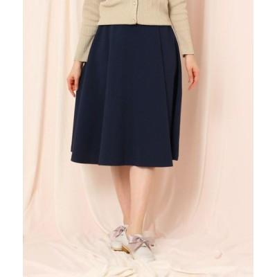 Couture Brooch/クチュールブローチ 【WEB限定(LL)サイズあり/洗える】ベルテッドフレアリネンライクミモレスカート ネイビー(093) 36(S)