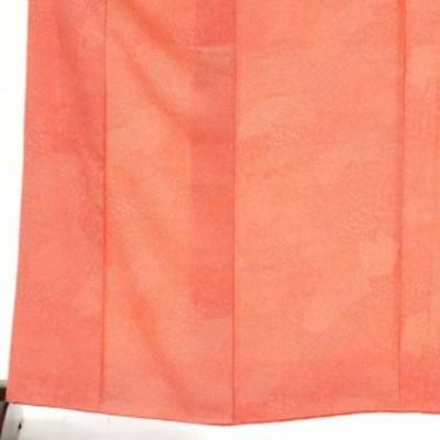 【中古】リサイクル着物 小紋 / 正絹ピンクオレンジ地袷江戸小紋着物 / レディース【裄Mサイズ】(古着 リサイクル品 小紋