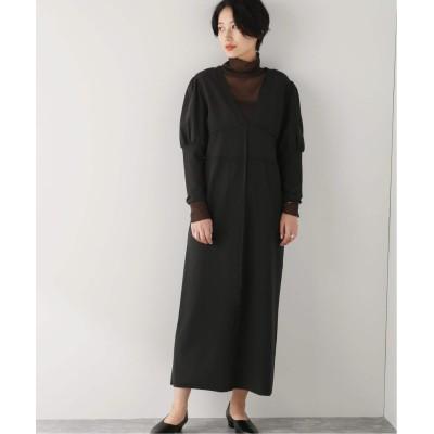 レディース ジャーナルスタンダード 【QUWAGI/クワギ】 COMBINE PARTE DRESS:ワンピース ブラック 38