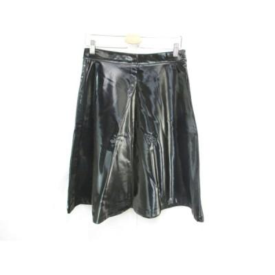 新品 未使用 マリアグラツィアパニッツィ MARIAGRAZIA PANIZZI スカート ミドルスカート 無地 44 黒 ブラック レディース