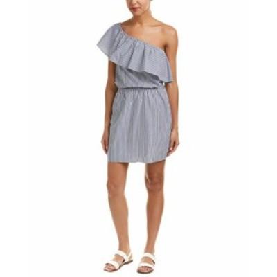 Ella Moss エラモス ファッション ドレス Ella Moss One-Shoulder A-Line Dress L Blue
