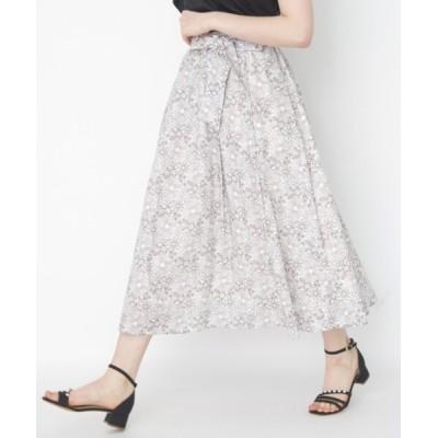 Couture brooch / ツートンフルールミモレスカート WOMEN スカート > スカート