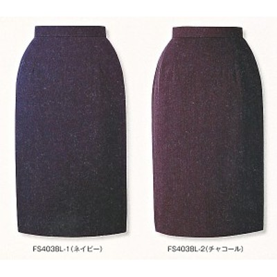 FS4038L-1-2 タイトスカート(9号:58cm丈) 全2色 (フォーク FOLK ヌーヴォ NUOVO 事務服 制服)